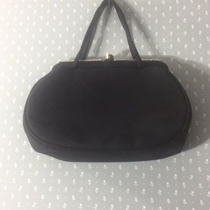 Vintage silk cloth Swarovski crystal evening bag